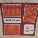 """I Love My Dad""-Premade Scrapbook Page 12x12"