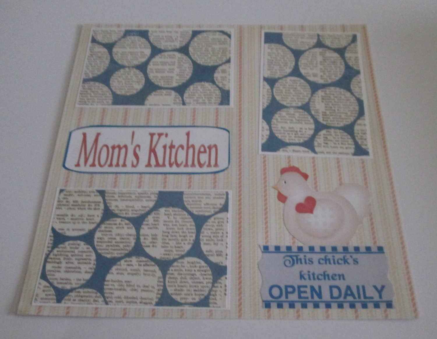 """""""Mom's Kitchen a""""-Premade Scrapbook Page 12x12"""