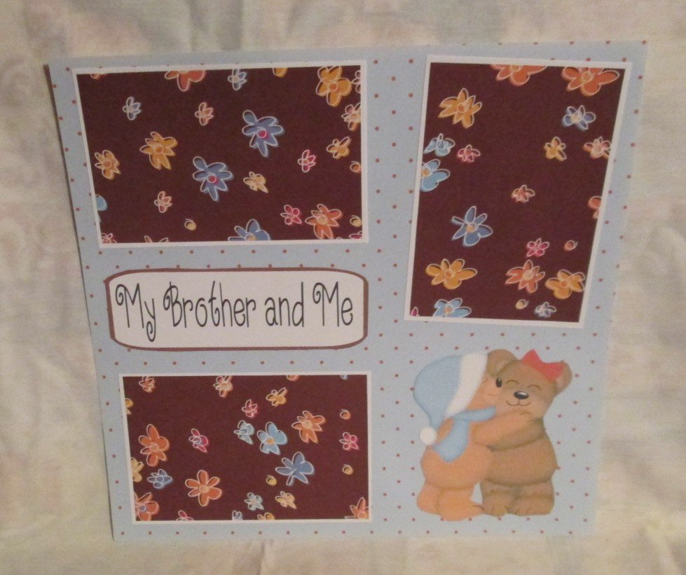 """My Brother and Me""-Premade Scrapbook Page 12x12"