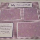 """""""My Daughter""""-Premade Scrapbook Page 12x12"""