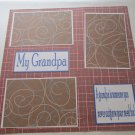 """My Grandpa""-Premade Scrapbook Page 12x12"