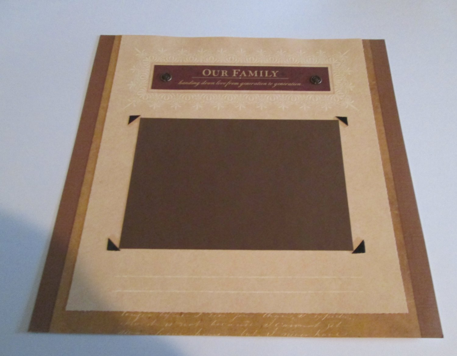 """""""Our Family""""-Premade Scrapbook Page 12x12"""