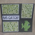 """Big Catch""-Premade Scrapbook Page 12x12"