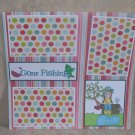 """""""Gone Fishing Girl bl""""-Premade Scrapbook Page 12x12"""
