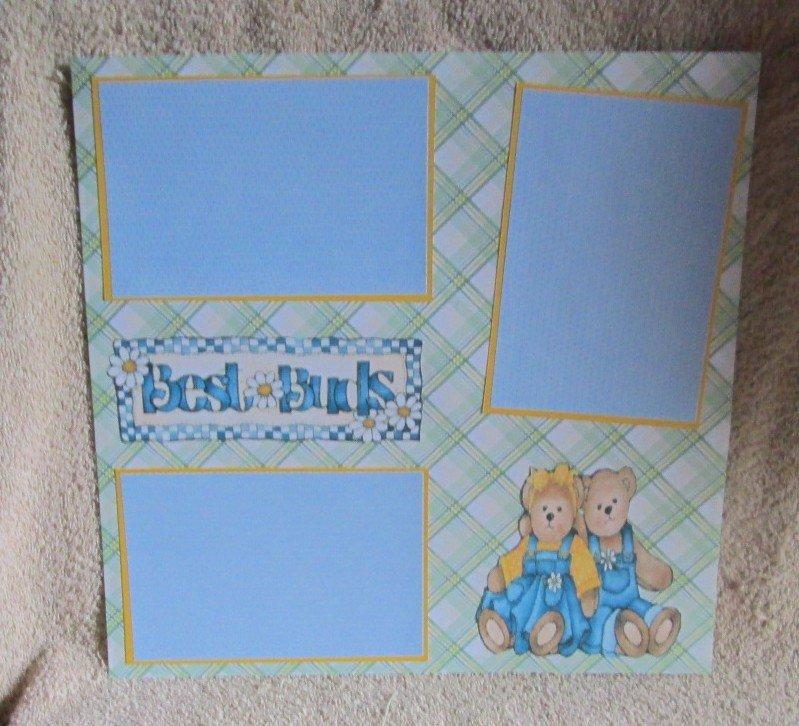 """Best Buds a""-Premade Scrapbook Page 12x12"