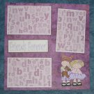 """Friends Forever cs""-Premade Scrapbook Page 12x12"