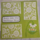 """Don't Let The Bedbugs Bite 2a""-Premade Scrapbook Page 12x12"
