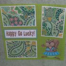 """Happy Go Lucky""-Premade Scrapbook Page 12x12"