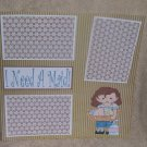 """I Need A Maid""-Premade Scrapbook Page 12x12"