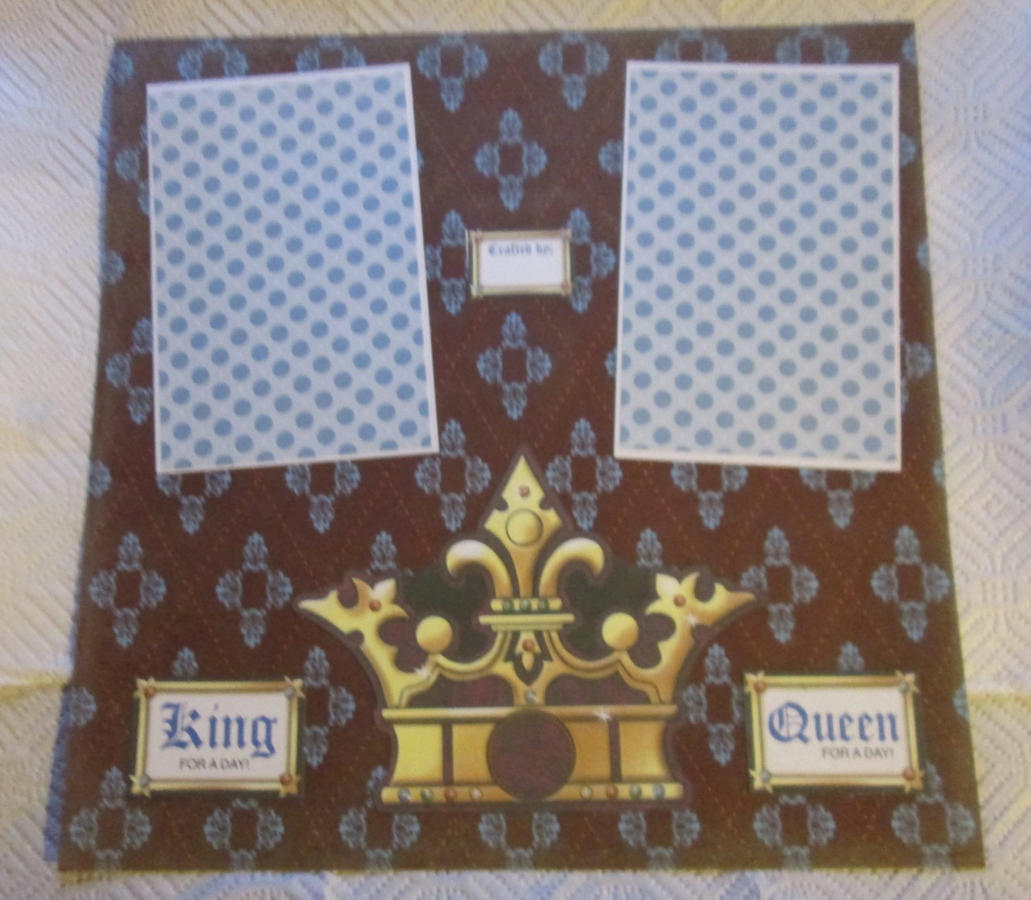 """""""King Queen For A Day 2a""""-Premade Scrapbook Page 12x12"""