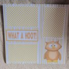 """What A Hoot nw""-Premade Scrapbook Page 12x12"