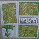 """What A Snake""-Premade Scrapbook Page 12x12"