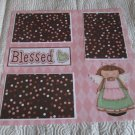 """Blessed Angel Girl 2""-Premade Scrapbook Page 12x12"