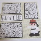 """Karate Kid Girl a""-Premade Scrapbook Page 12x12"