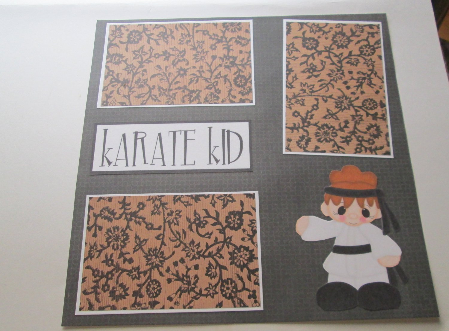 """Karate Kid Girl""-Premade Scrapbook Page 12x12"
