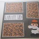 """Karate Kid Girl""-Premade Scrapbook Page 12x12"