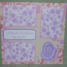 """""""A Pinch To Grow An Inch Girl b""""-Premade Scrapbook Page 12x12"""