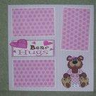 """Bear Hugs Girl""-Premade Scrapbook Page 12x12"