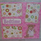 """""""Bedtime Girl a""""-Premade Scrapbook Page 12x12"""