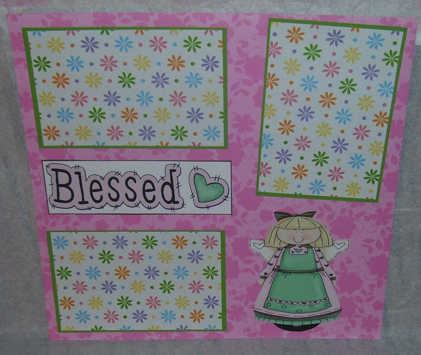 """Blessed Angel""-Premade Scrapbook Page 12x12"