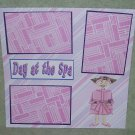"""Day At The Spa""-Premade Scrapbook Page 12x12"