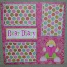 """Dear Diary""-Premade Scrapbook Page 12x12"
