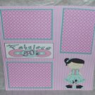 """Fabulous 50's Girl""-Premade Scrapbook Page 12x12"