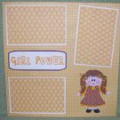 """""""Girl Power a""""-Premade Scrapbook Page 12x12"""