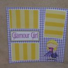 """""""Glamour Girl""""-Premade Scrapbook Page 12x12"""