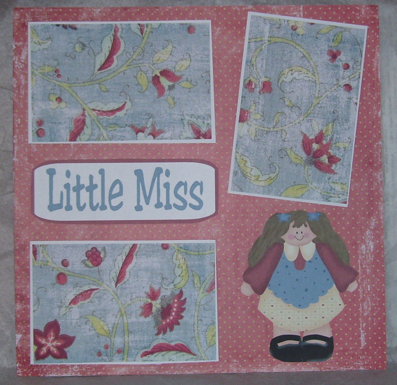 """Little Miss""-Premade Scrapbook Page 12x12"