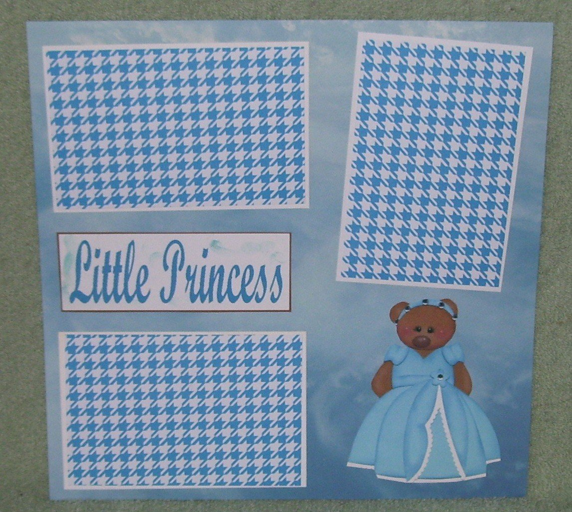 """Little Princess msc""-Premade Scrapbook Page 12x12"