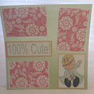"""100% Cute Girl""-Premade Scrapbook Page 12x12"