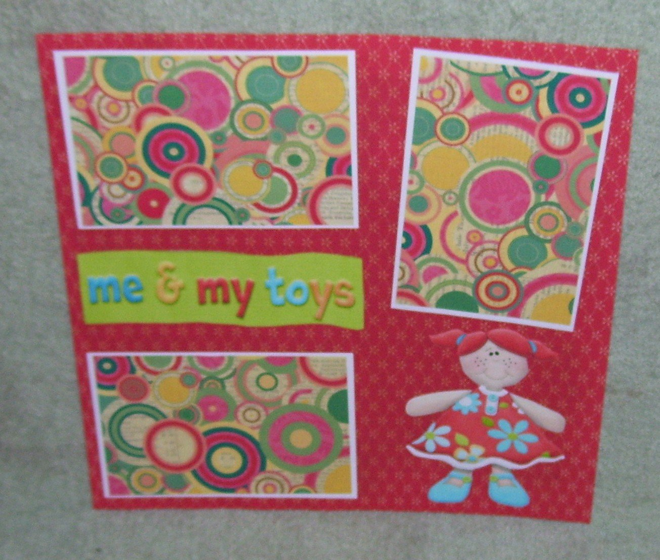 """""""Me and My Toys""""-Premade Scrapbook Page 12x12"""