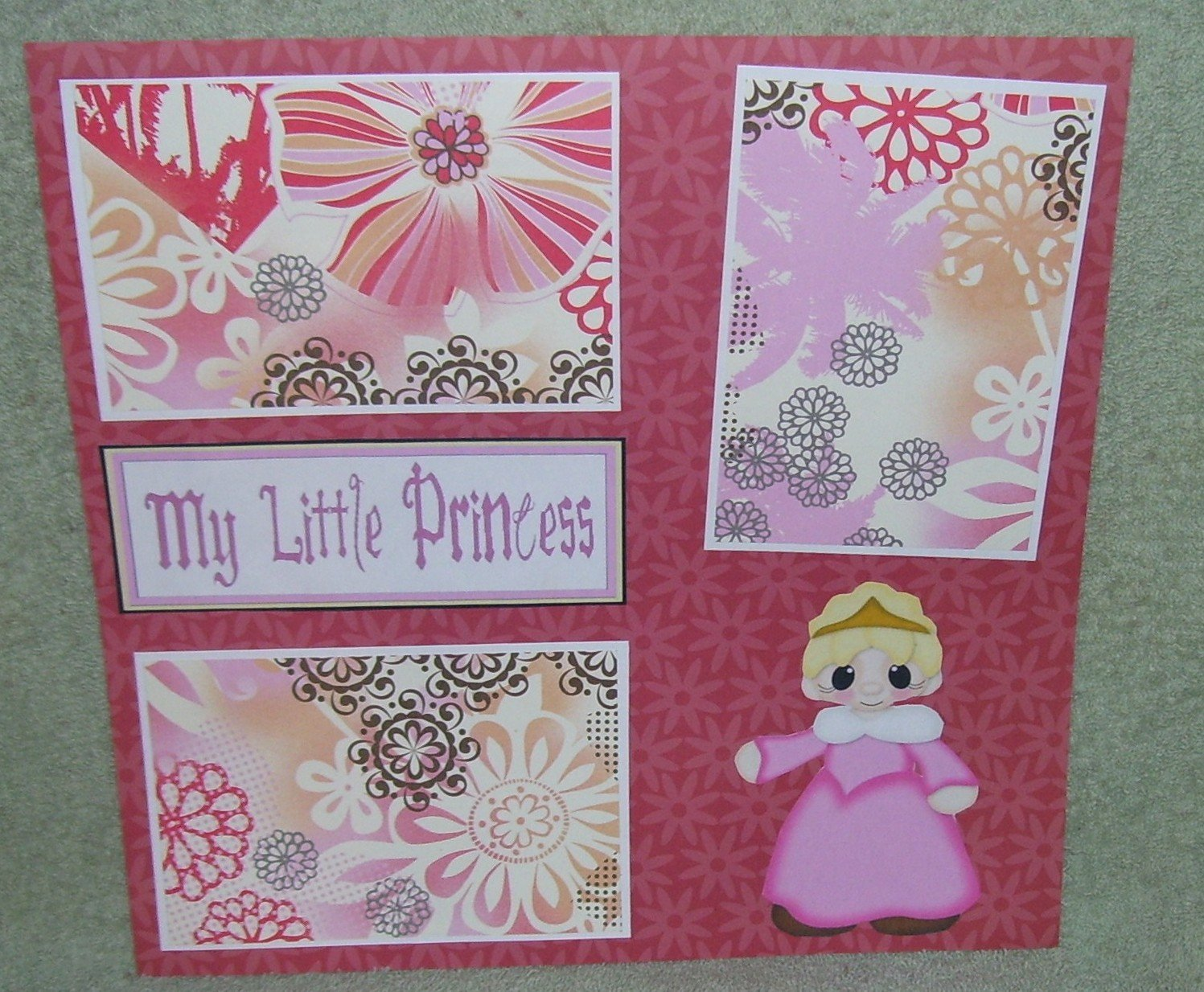 """My Little Princess 2""-Premade Scrapbook Page 12x12"