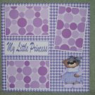 """My Little Princess""-Premade Scrapbook Page 12x12"