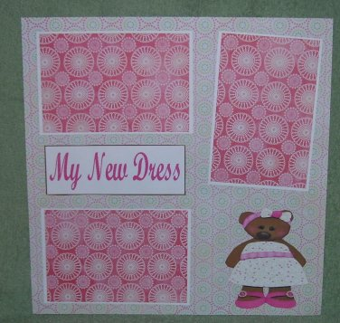 """My New Dress""-Premade Scrapbook Page 12x12"