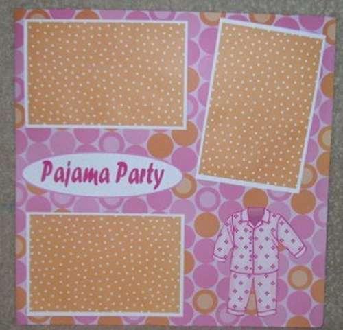 """Pajama Party a""-Premade Scrapbook Page 12x12"