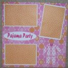 """Pajama Party a""-Premade Scrapbook Page 12x12"