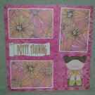 """Potty Training Girl 2""-Premade Scrapbook Page 12x12"