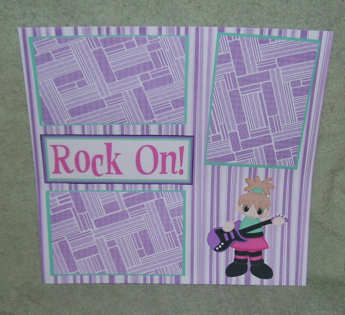 """""""Rock On Girl""""-Premade Scrapbook Page 12x12"""