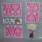 """Southern Fried Chicken Girl""-Premade Scrapbook Page 12x12"
