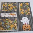 """Happy Halloween Ghost and Pumpkin""-Premade Scrapbook Page 12x12"
