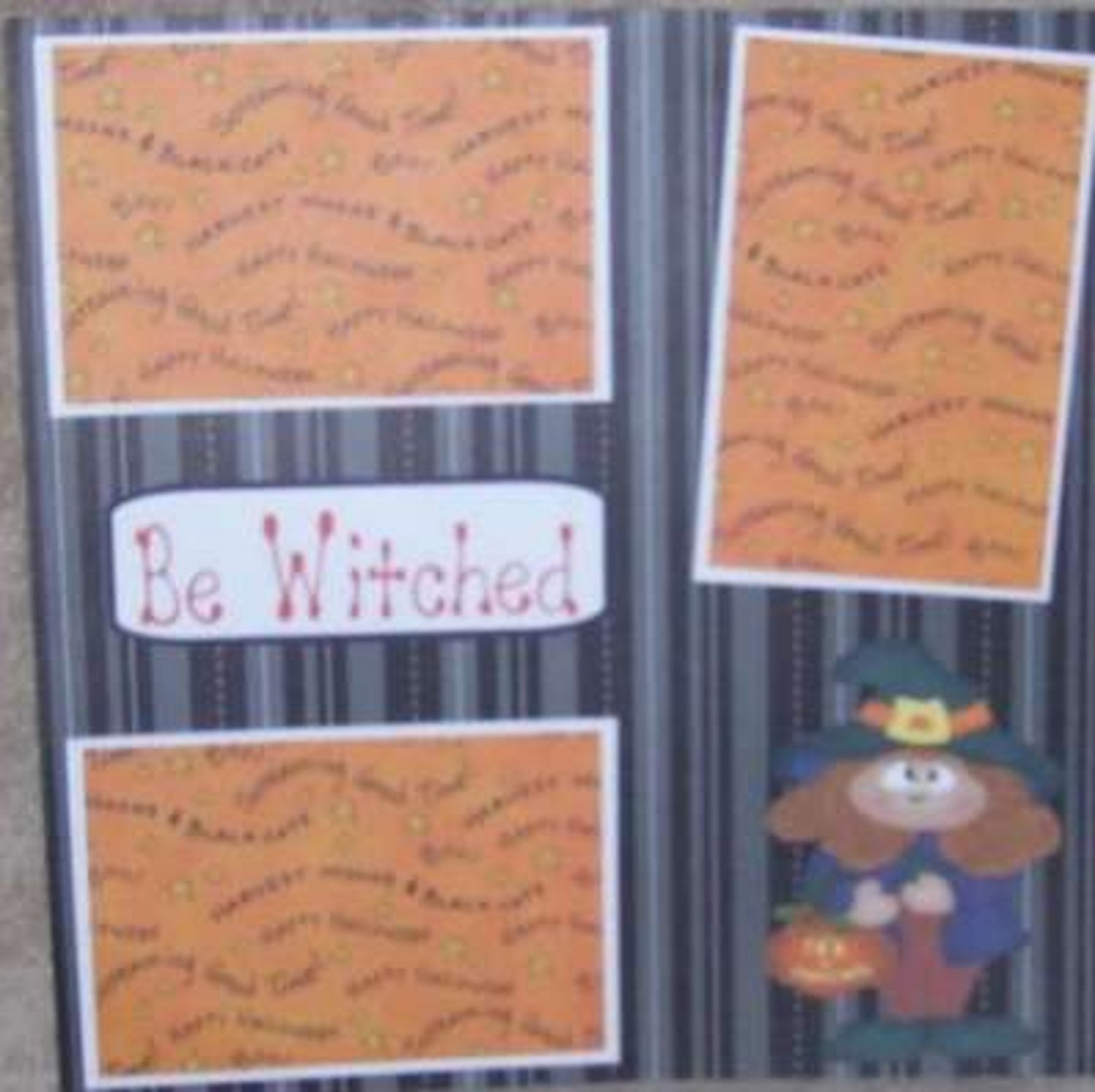 """""""Bewitched""""-Premade Scrapbook Page 12x12"""