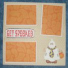 """Get Spooked 3""-Premade Scrapbook Page 12x12"