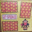 """Get Spooked""-Premade Scrapbook Page 12x12"