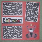 """Halloween Bear""-Premade Scrapbook Page 12x12"