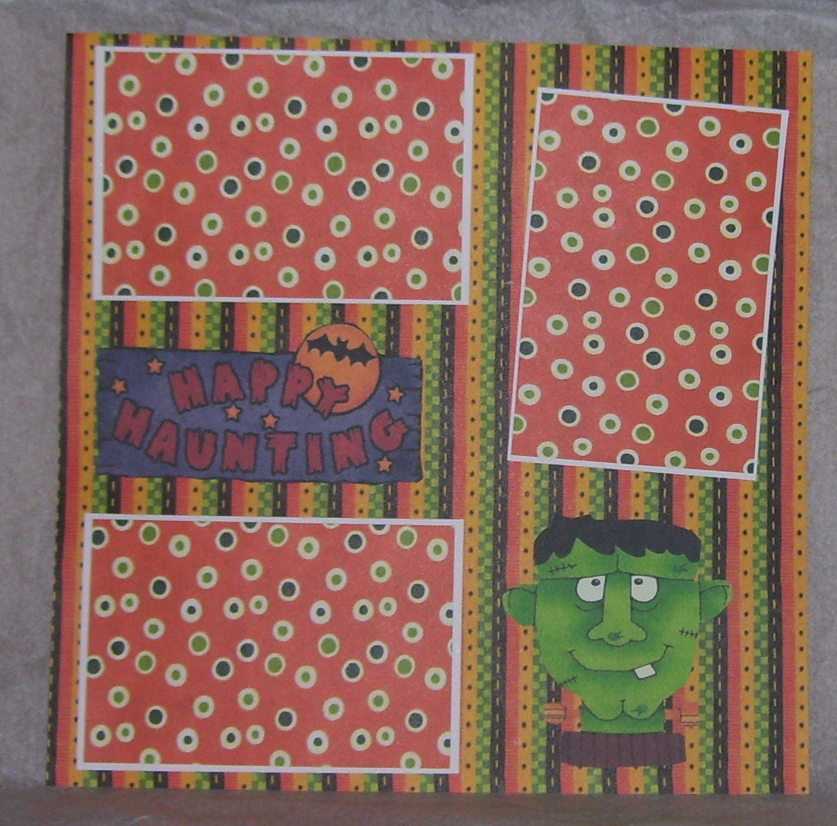 """Happy Haunting Frank""-Premade Scrapbook Page 12x12"