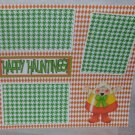 """""""Happy Haunting Candy Corn b""""-Premade Scrapbook Page 12x12"""