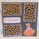 """My Little Pumpkin Girl Trick or Treat""-Premade Scrapbook Page 12x12"
