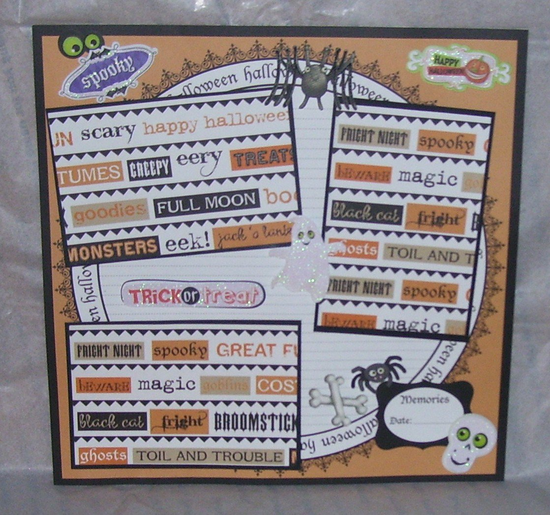 """""""Spooky Trick or Treat""""-Premade Scrapbook Page 12x12"""